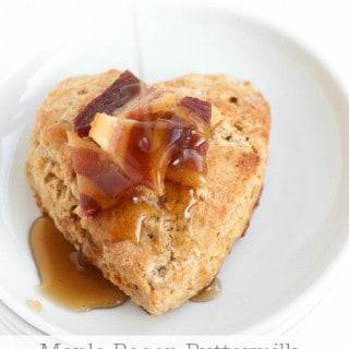 Maple Bacon Buttermilk Scones