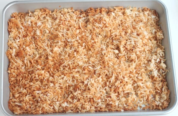 toasted coconut from the oven