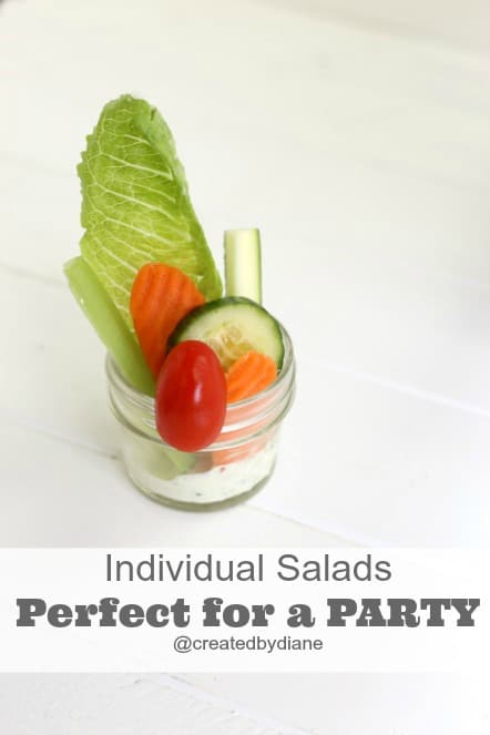 Individual Salads perfect for a PARTY @createdbydiane