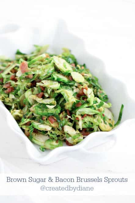 brown sugar and bacon Brussels Sprouts @createdbydiane
