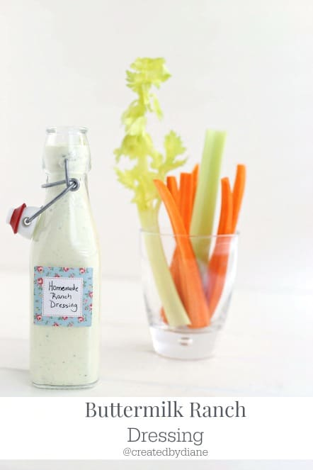 homemade buttermilk ranch dressing @createdbydiane