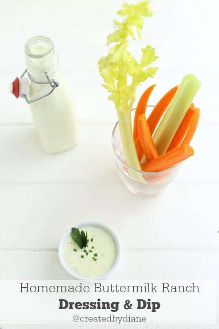 homemade buttermilk ranch dressing and dip @createdbydiane