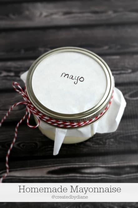 how to make homemade mayonnaise @createdbydiane
