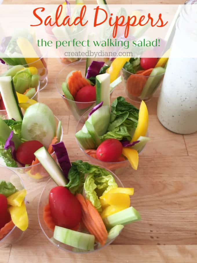 salad dippers the perfect walking salad createdbydiane.com