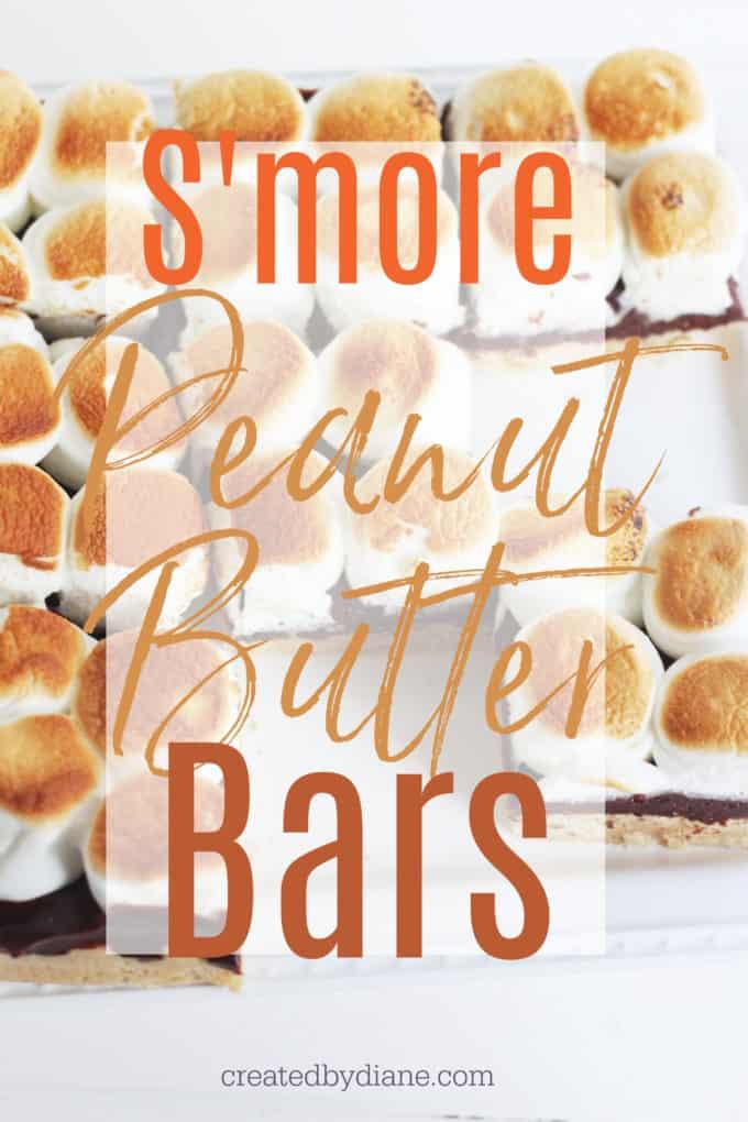 smore peanut butter bars createdbydiane.com
