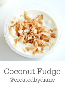 Coconut Fudge from @createdbydiane