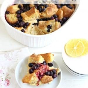 Lemon Blueberry Bread Pudding @createdbydiane