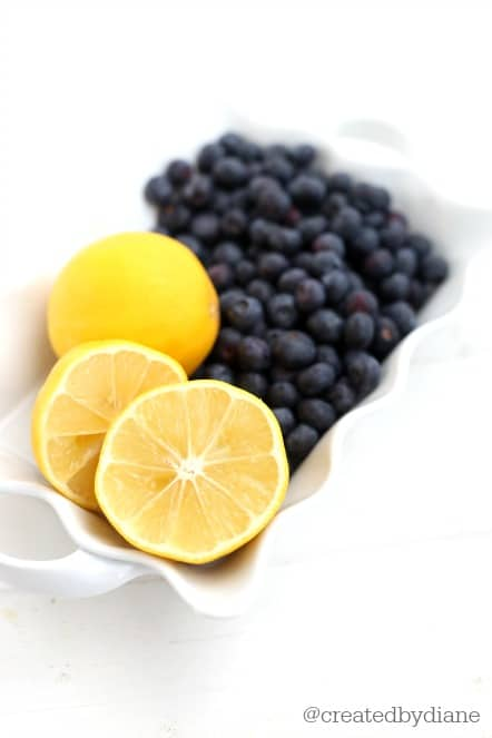 Lemons and Blueberries @createdbydiane