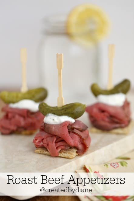 Roast beef appetizers created by diane for Beef horseradish canape