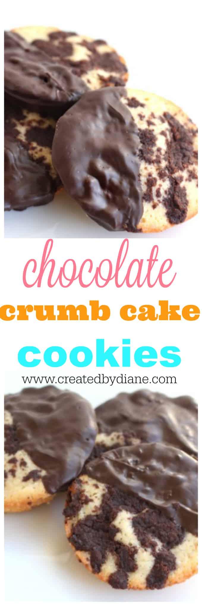 chocolate crumb cake cookies www.createdbydiane.com