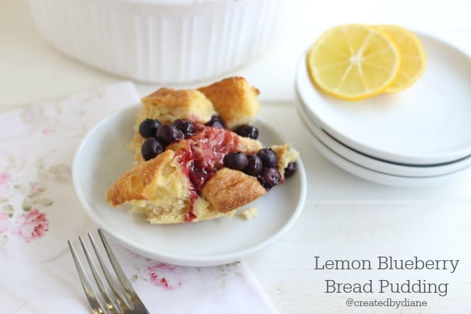 lemon blueberry bread pudding from @createdbydiane