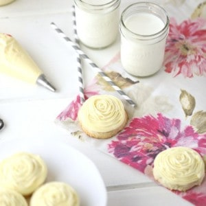 Lemon Cream Cheese Cookies and Lemon Cream Cheese Frosting @createdbydiane