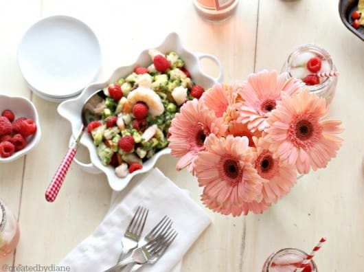 ceviche with raspberries a perfect summer party serving