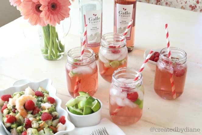 moscato margaritas with nachos and raspberry ceviche www.createdbydiane.com