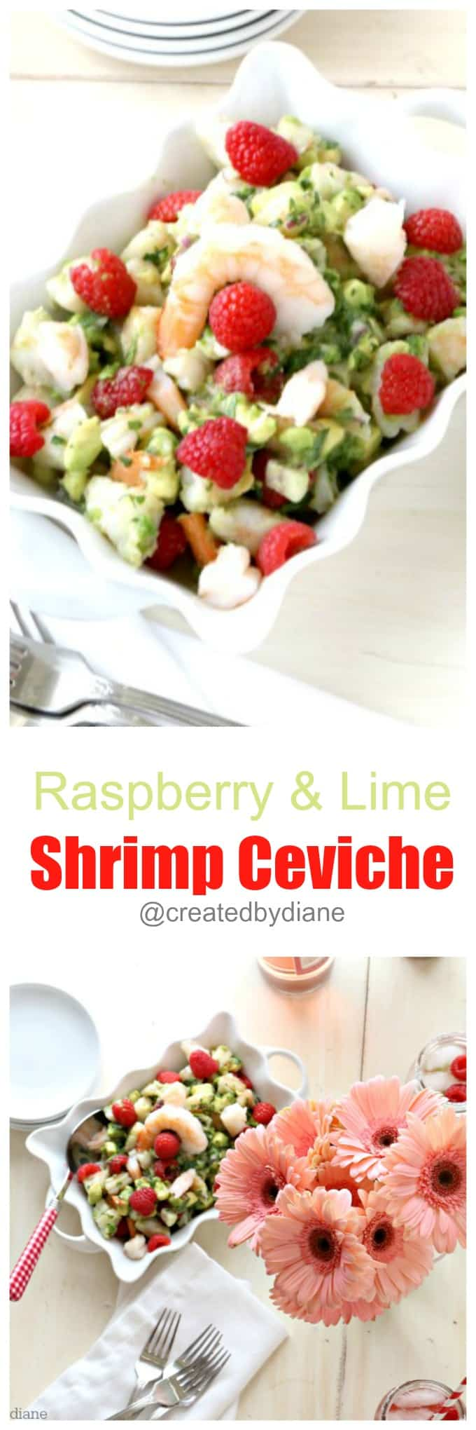 raspberry and lime shrimp ceviche @createdbydiane