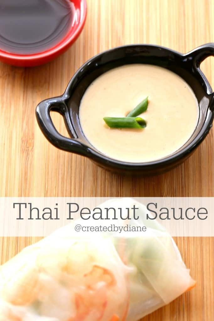 Creamy Thai Peanut Sauce Recipe @createdbydiane