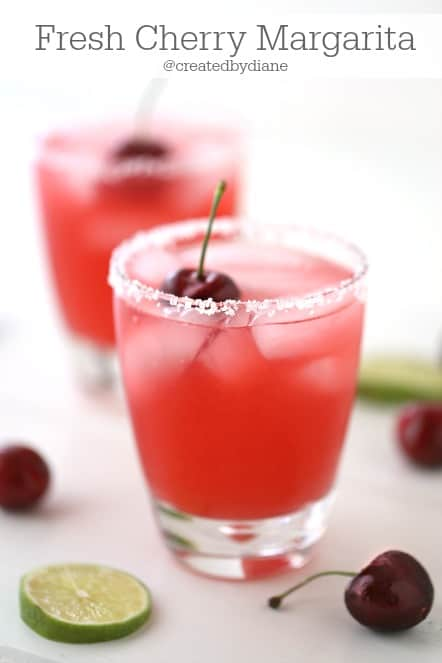 Fresh Cherry Margarita Recipe @createdbydiane