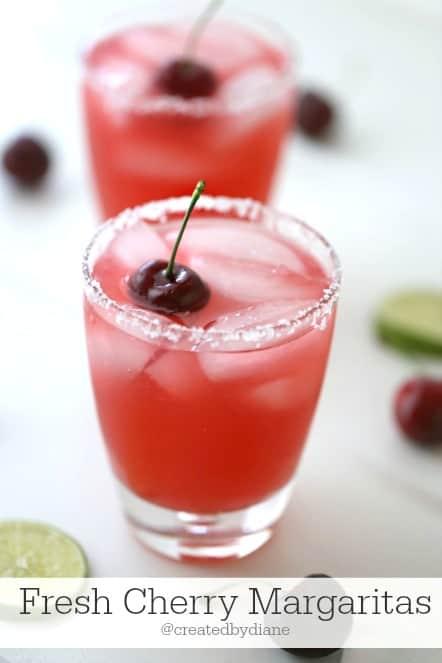 Fresh Cherry Margaritas @createdbydiane