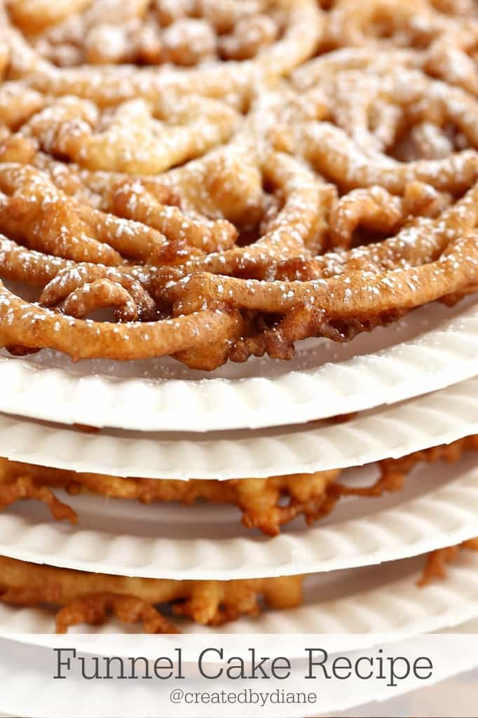 Funnel Cake Recipe from @createdbydiane