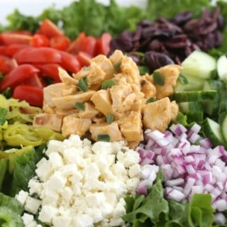 Greek Chicken Salad with Greek Tomato Dressing