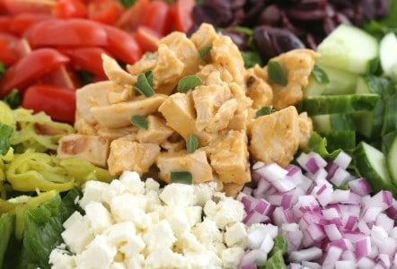 Greek Chicken Salad with Greek Tomato Dressing @createdbydiane