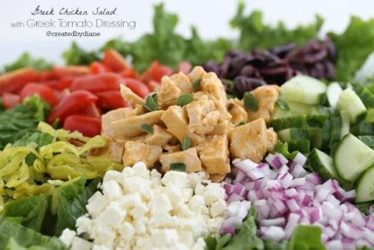 Greek Chicken Salad with Homemade Greek Tomato Dressing @createdbydiane