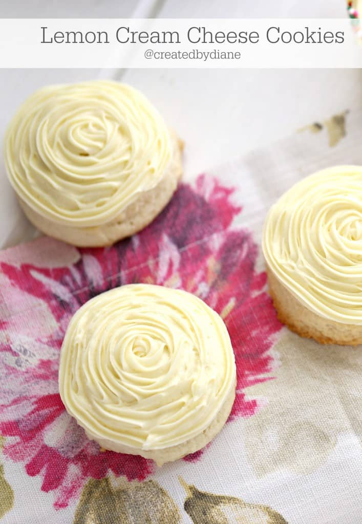 Lemon Cream Cheese Cookie Recipe from @createdbydiane