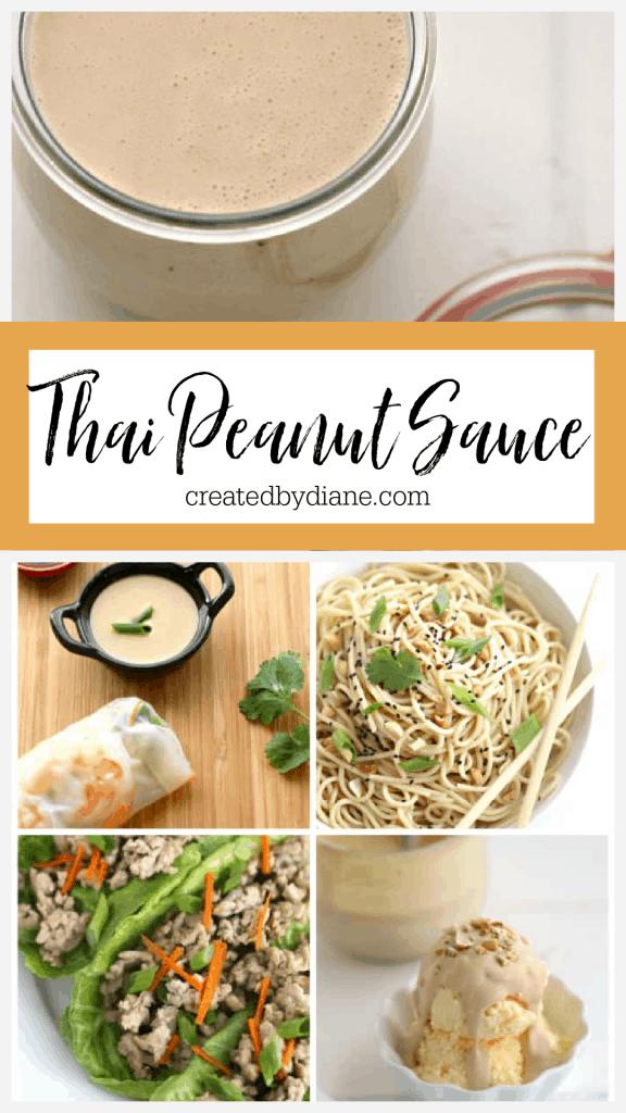 THAI PEANUT SAUCE recipe from createdbydiane.com