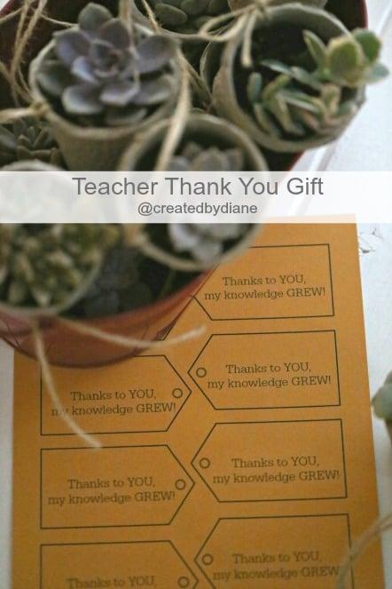 Teacher thank you gift with printable @createdbydiane