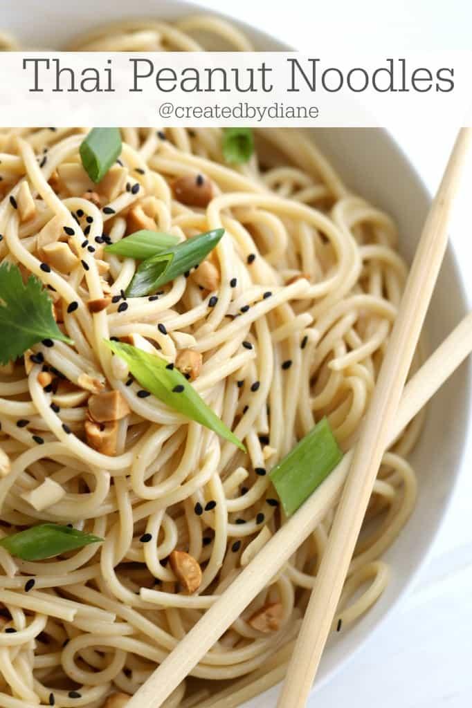 Thai Peanut Noodles Recipe form @createdbydiane