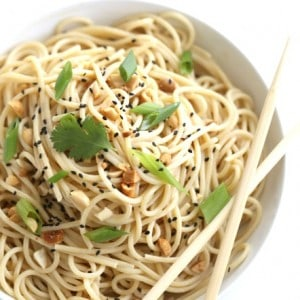 Thai Peanut Noodles Recipe from @createdbydiane