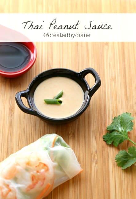 Thai Peanut Sauce from @createdbydiane