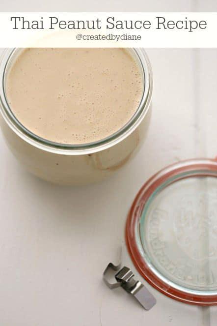 delicious Thai Peanut Sauce Recipe @createdbydiane