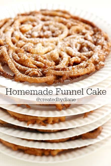 funnel cake @createdbydiane