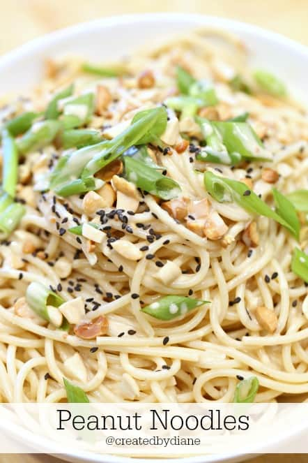 peanut noodles @createdbydiane