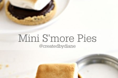 Mini S'more Pies in Mason Jar Lids @createdbydiane
