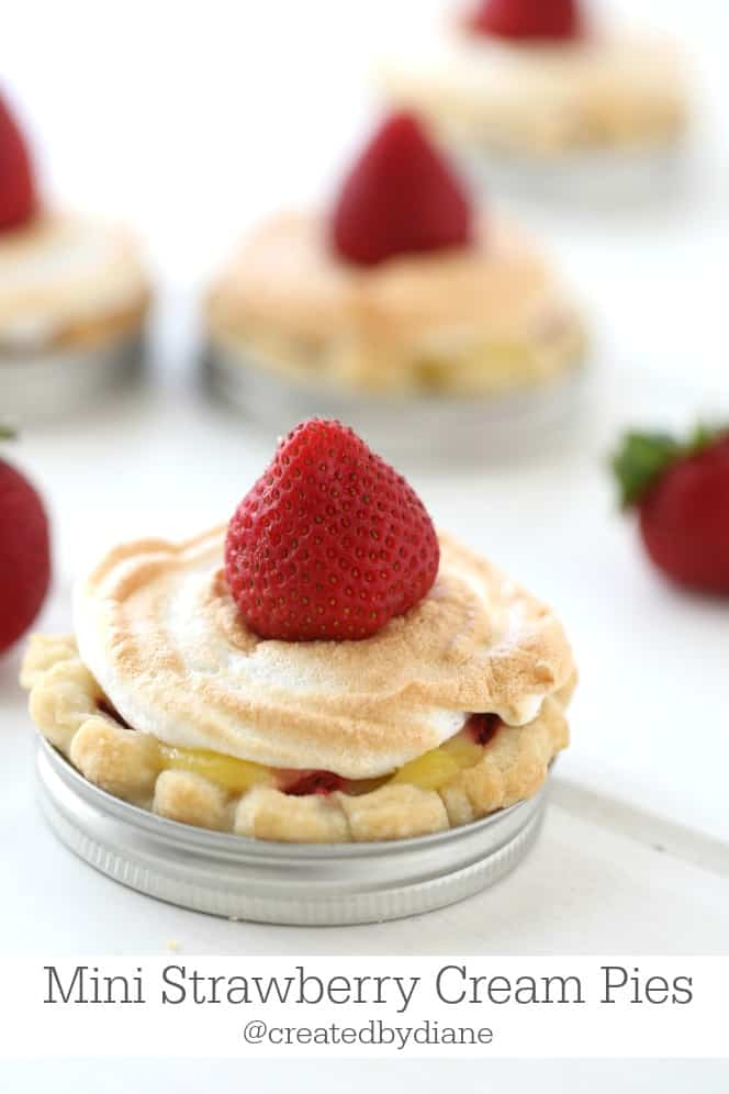 Mini Strawberry Cream Pies @createdbydiane
