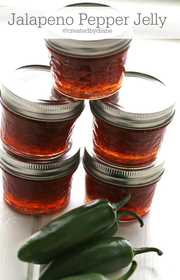 canning jalapeno pepper jelly @createdbydiane