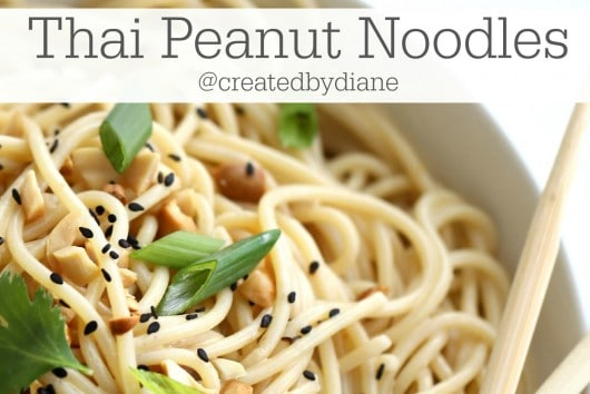 delicious Thai Peanut Noodles Recipe form @createdbydiane