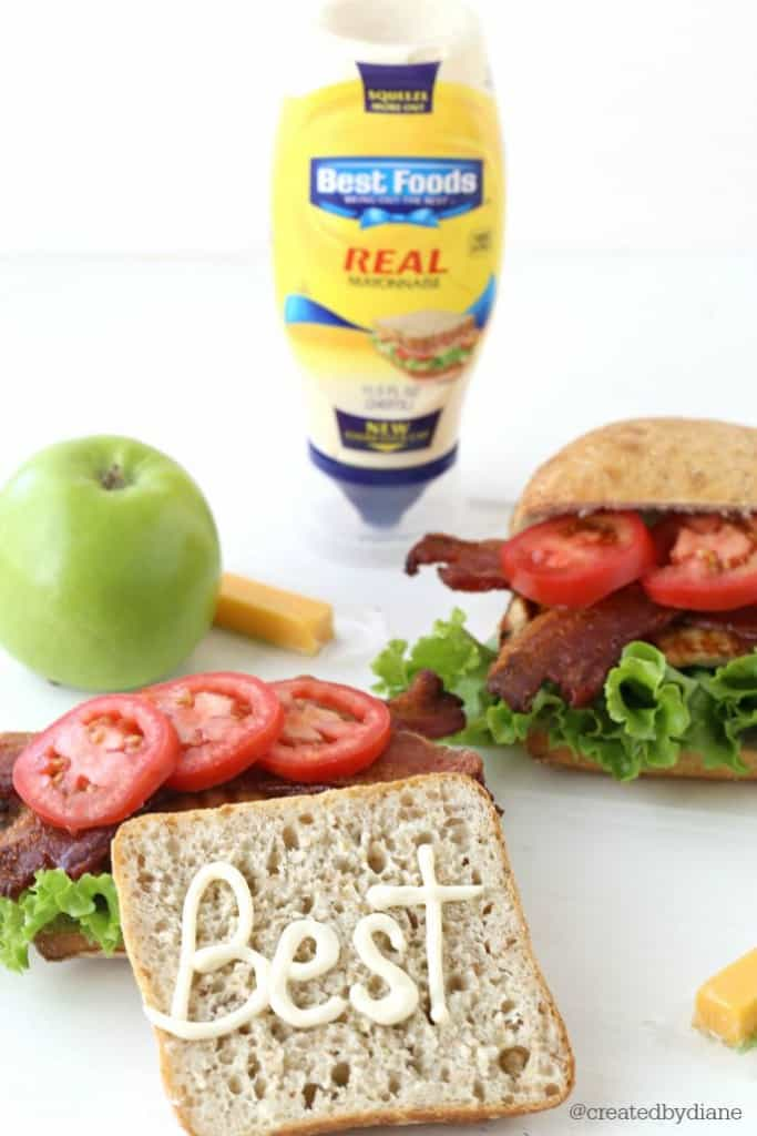 Best Foods on a grilled chicken BLT from @createdbydiane