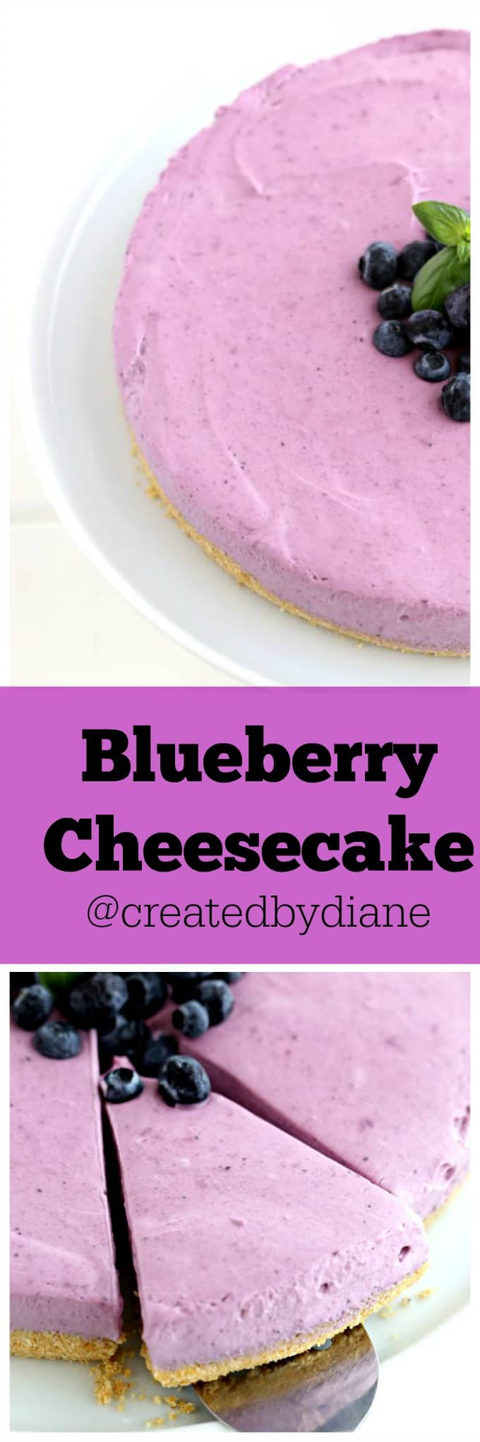 Blueberry Cheesecake @createdbydiane