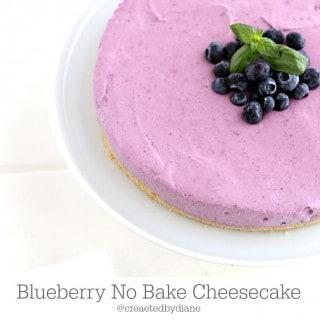 Easy Blueberry No Bake Cheesecake