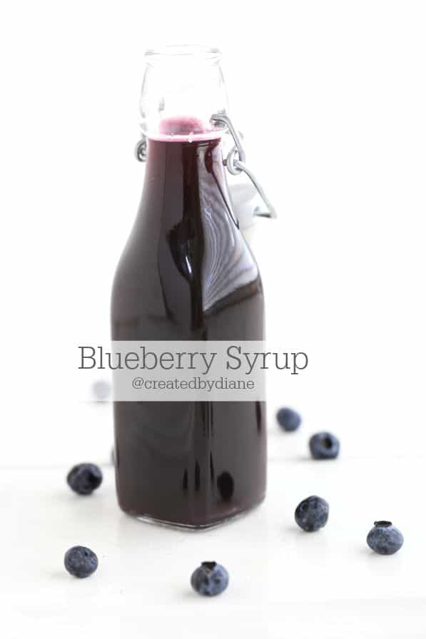 Blueberry Syrup | Created by Diane