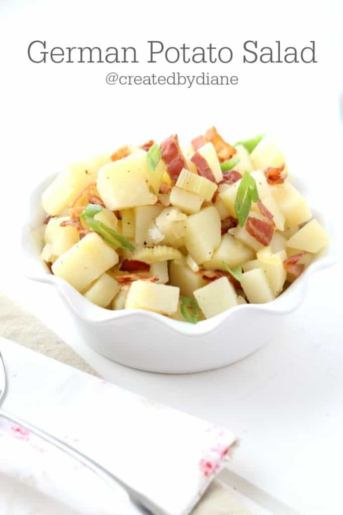 German Potato Salad, delicious and easy @createdbydiane