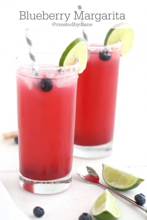 Blueberry Margarita Recipes @creaetedbydiane