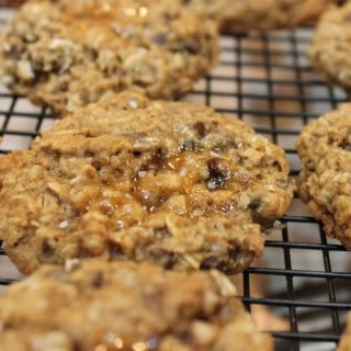 Salted Caramel-Oatmeal Chocolate Chip Cookies