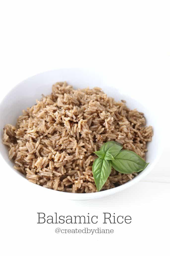 Balsamic Rice @createdbydiane