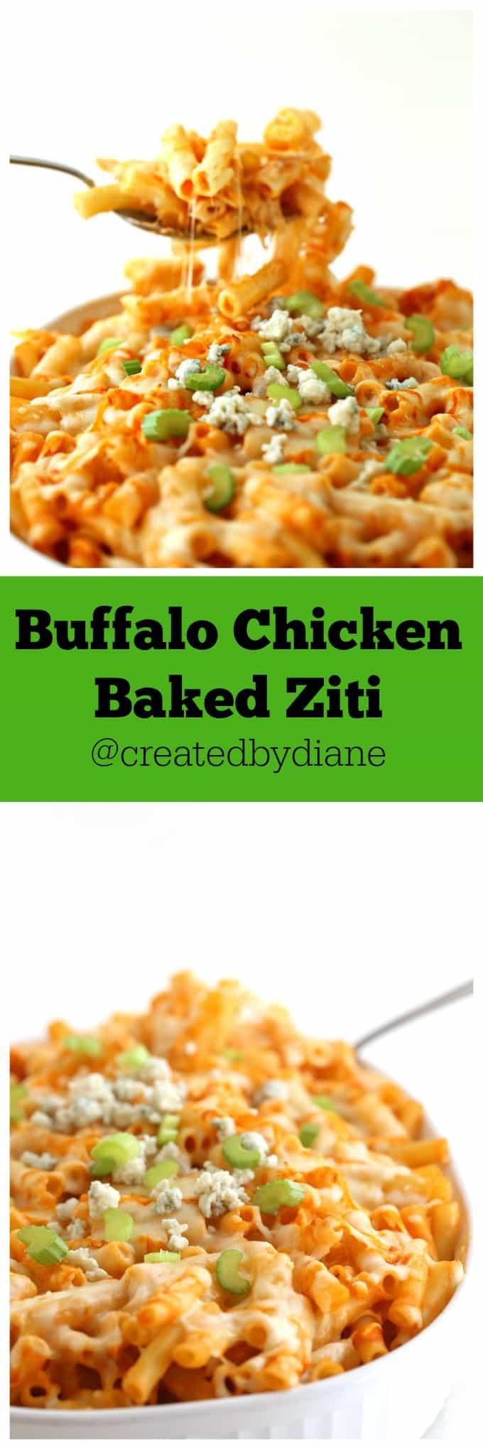 Buffalo Chicken Baked Ziti @createdbydiane