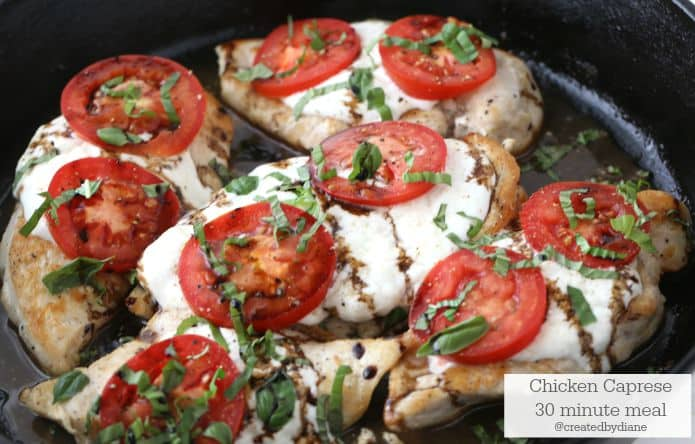 Chicken Caprese 30 minute meal with Balsamic Rice @createdbydiane