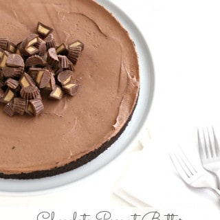 Chocolate Peanut Butter No Bake Cheesecake